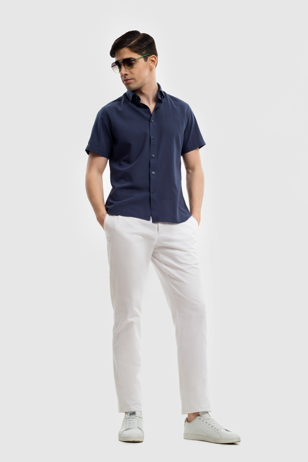 Рубашка из хлопковой ткани  Vaismann 21138