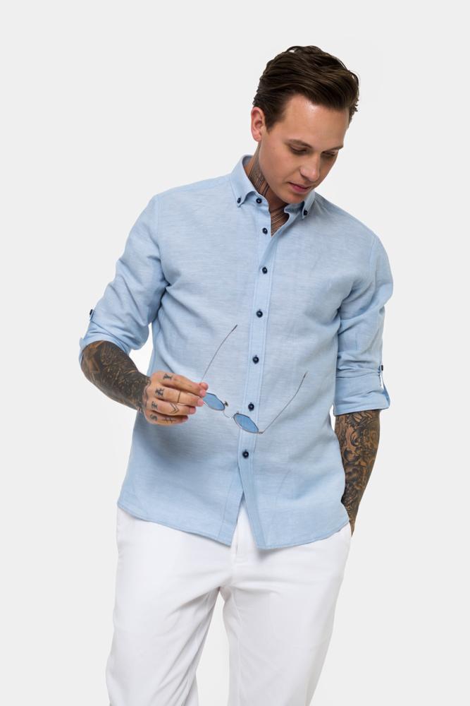 Рубашка из ткани лен  Vaismann  21156