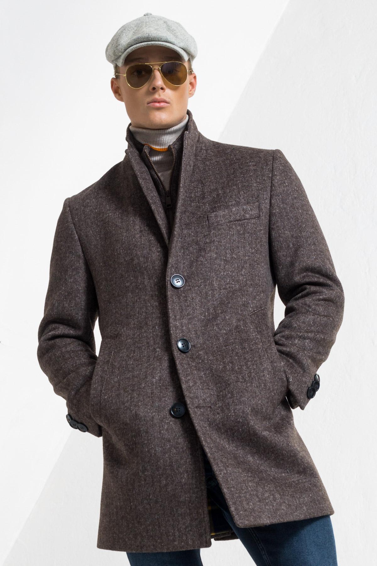 Шерстяное пальто с дополнительной застежкой Vaismann 2145