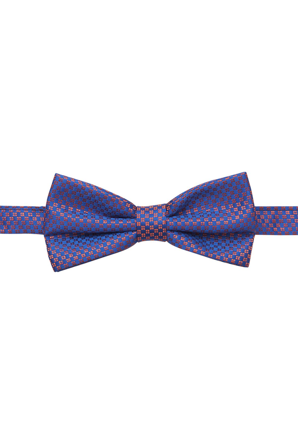 Бабочка синяя с принтом 18-10-02