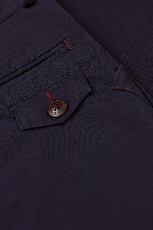 Брюки «chinos» темно-синего цвета 18630