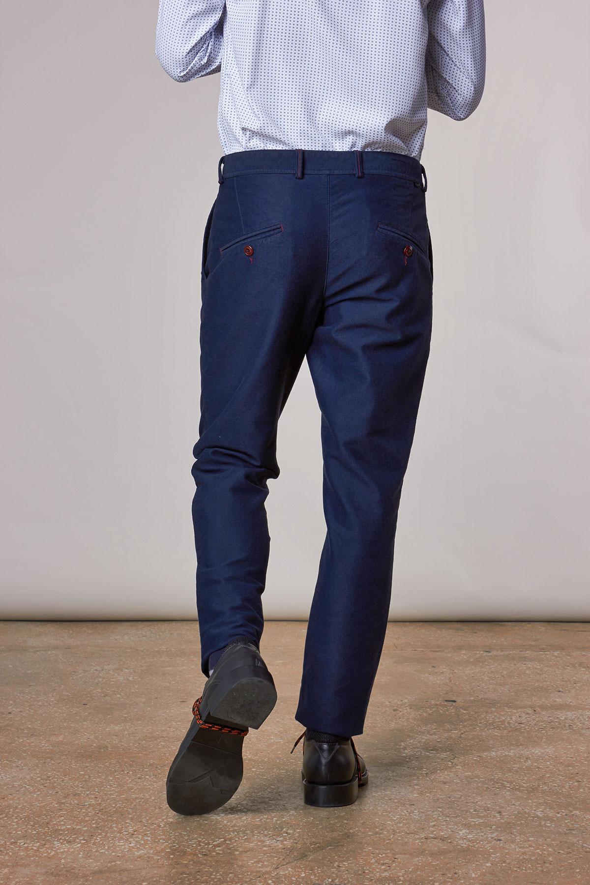 Брюки «chinos» темно-синего цвета 18635