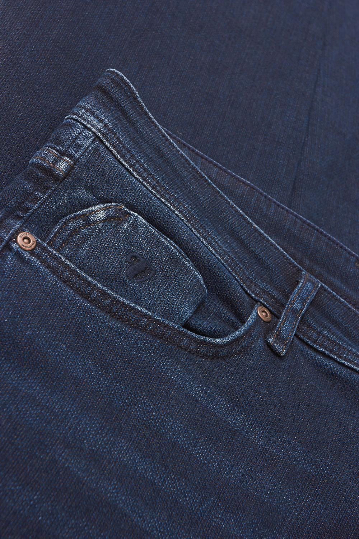 Джинсы темно-синего цвета 18091828