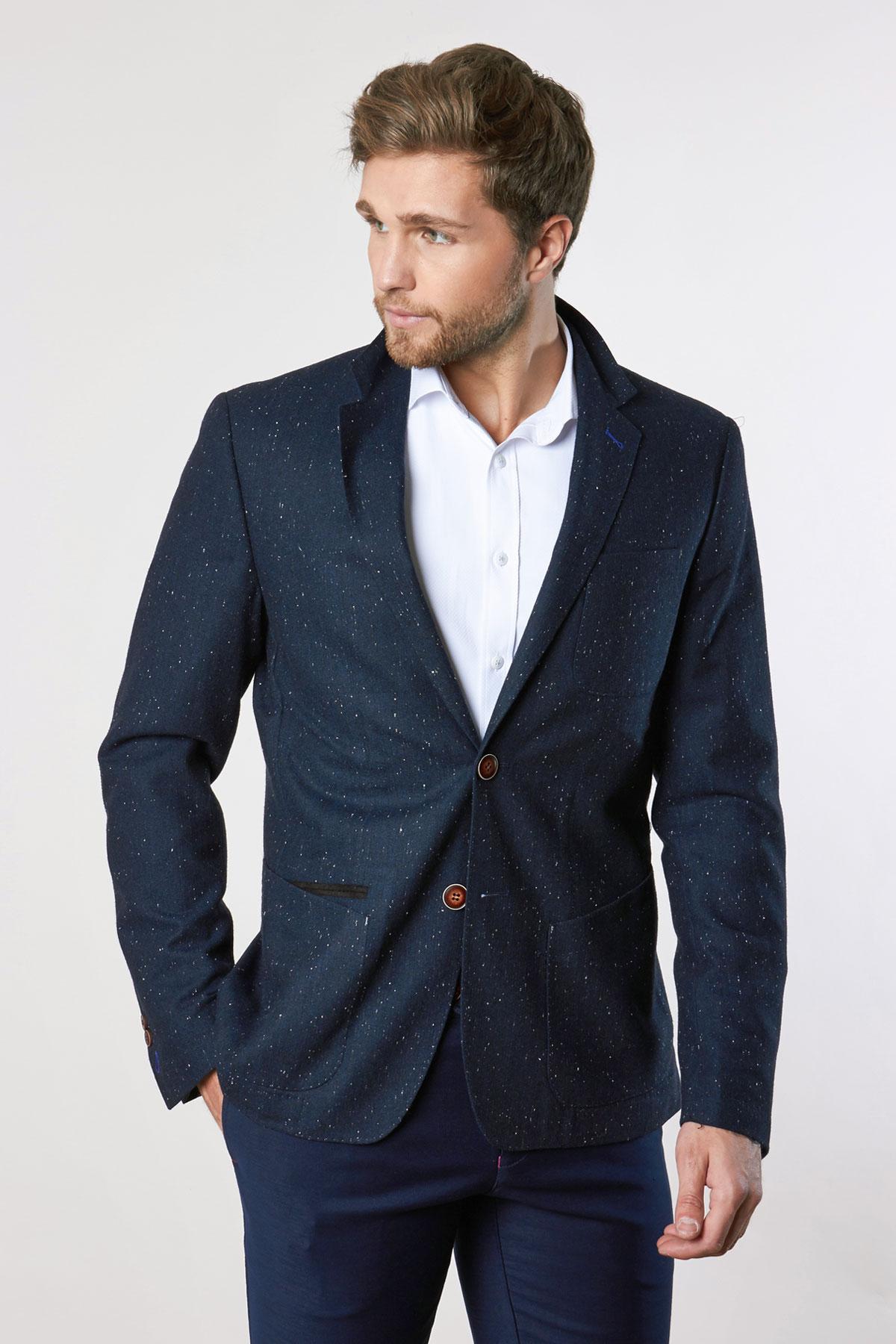 Пиджак темно-синего цвета 1849-19 York