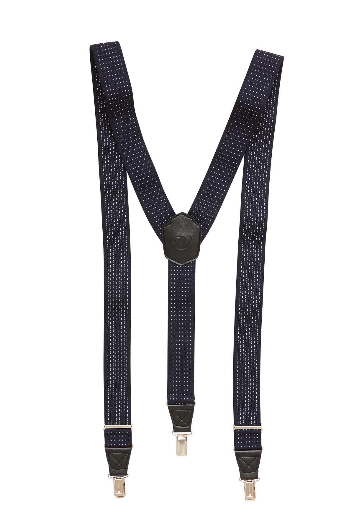 Подтяжки для брюк синие 18-08-15