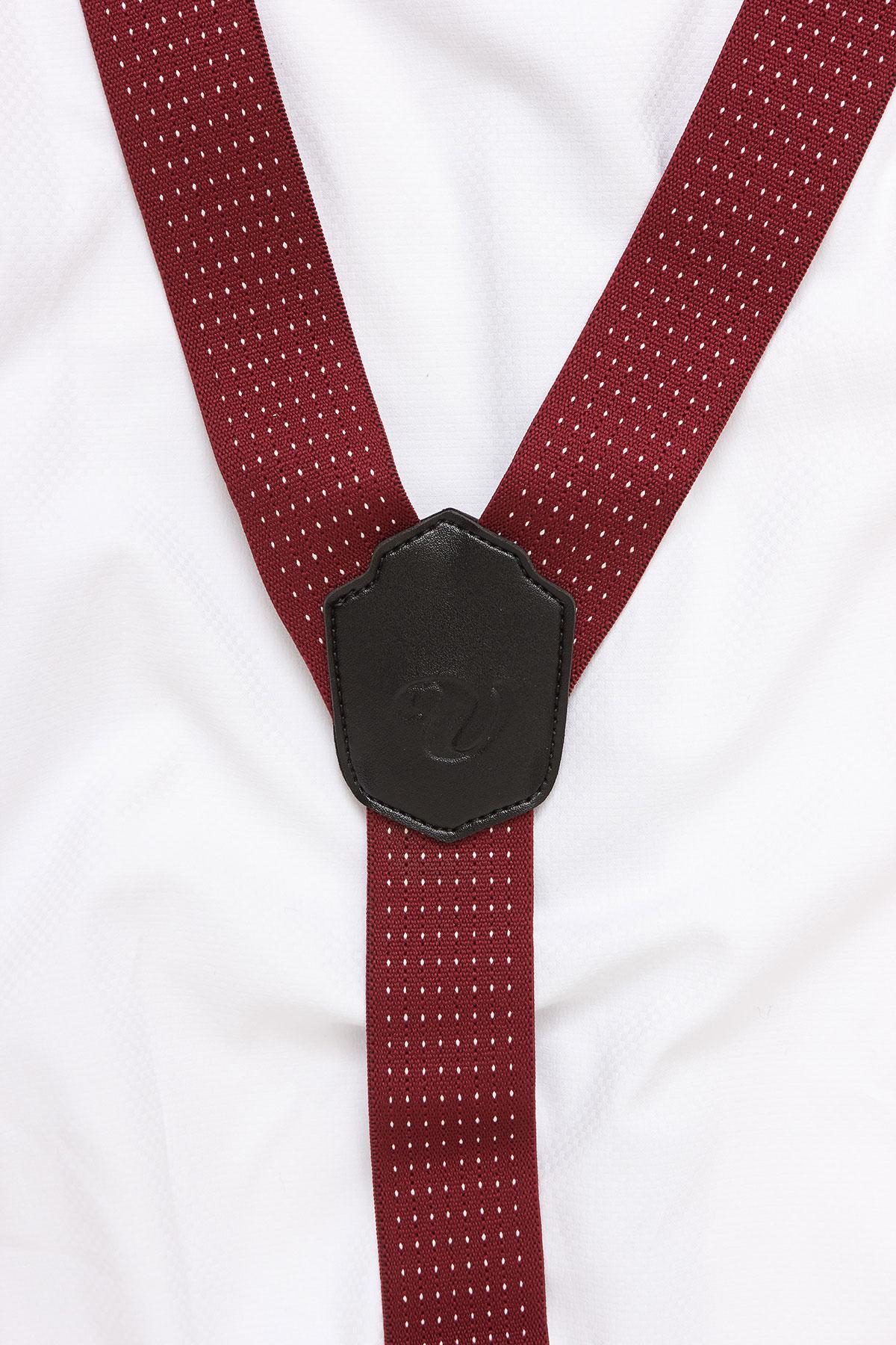 Подтяжки для брюк красные 18-08-16
