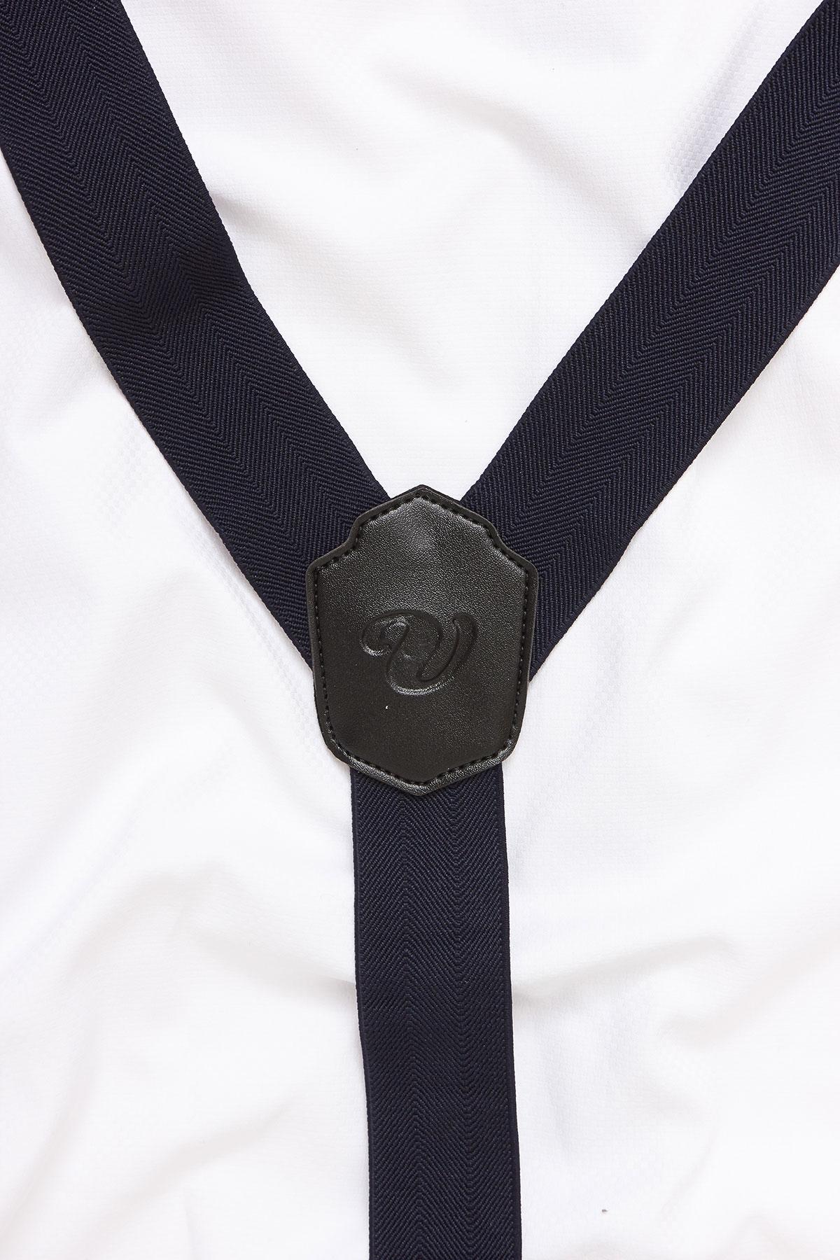 Подтяжки для брюк черные 18-08-17