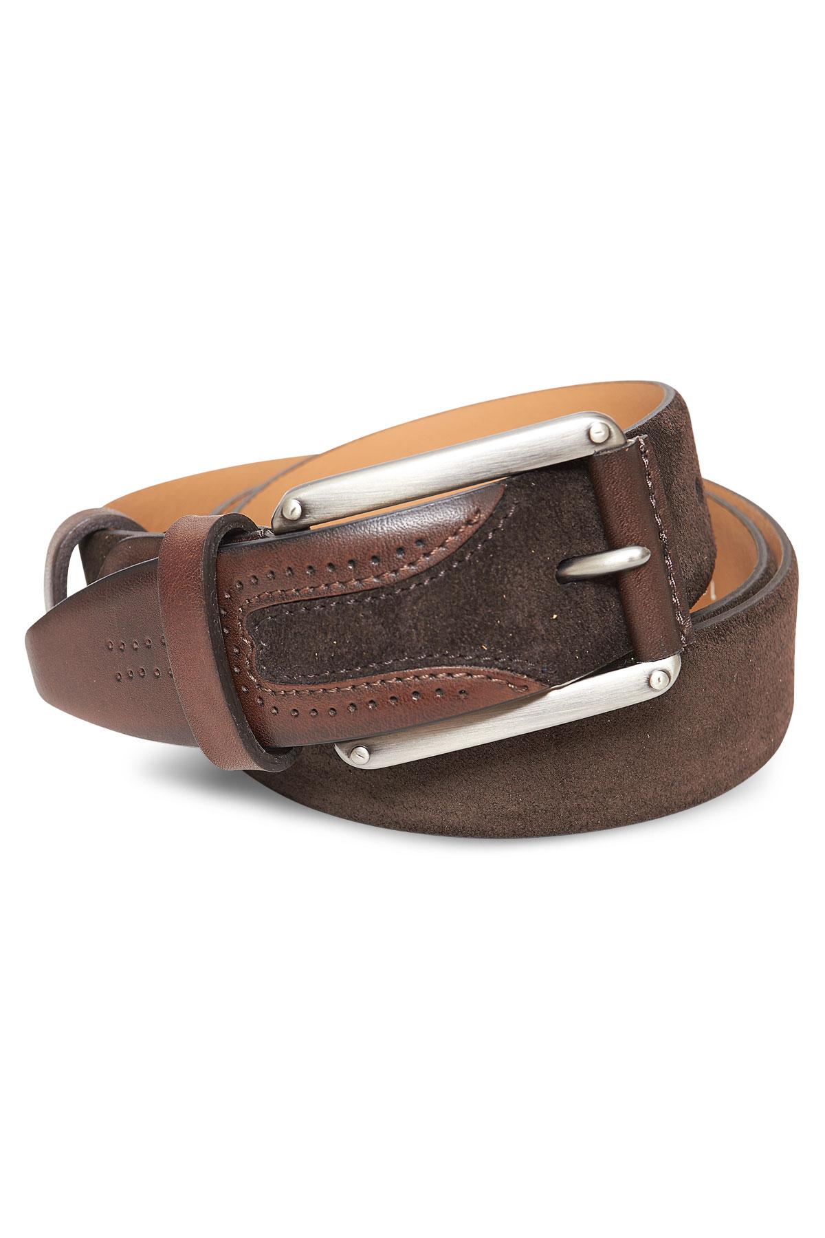 Ремень кожаный коричневого цвета 18-08-01
