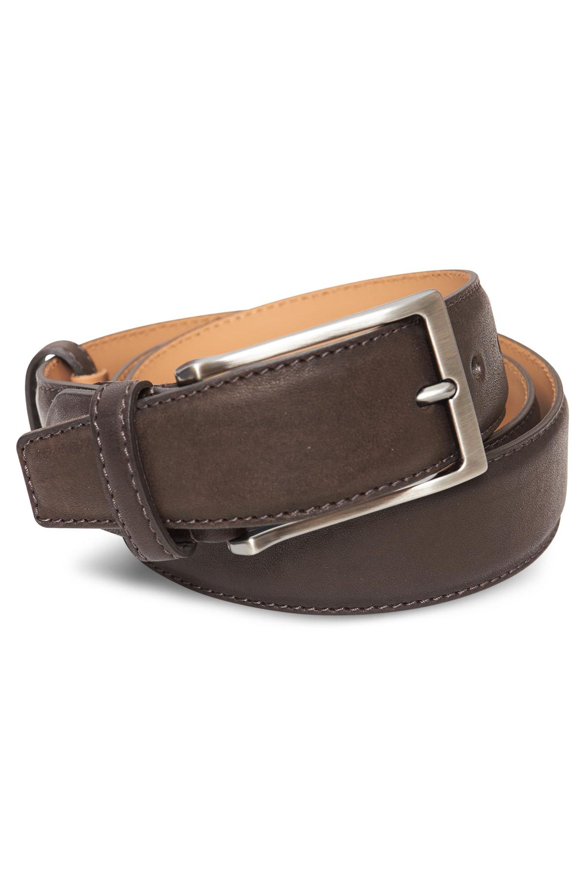 Ремень кожаный коричневого цвета 18-08-06