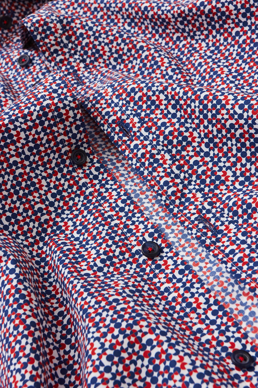 Рубашка белого цвета в узор Vaismann 180626-01