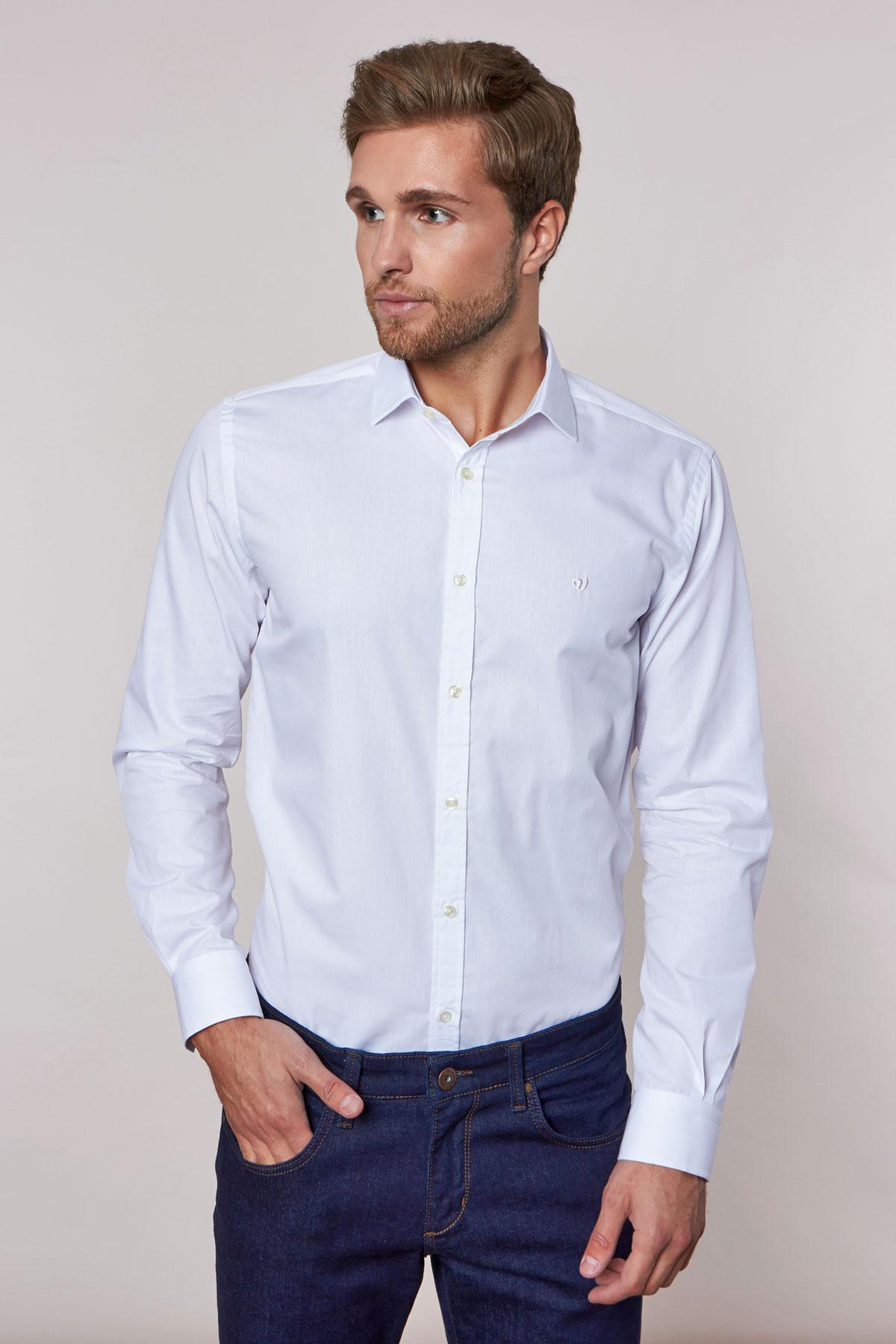 Рубашка белого цвета 180703-01