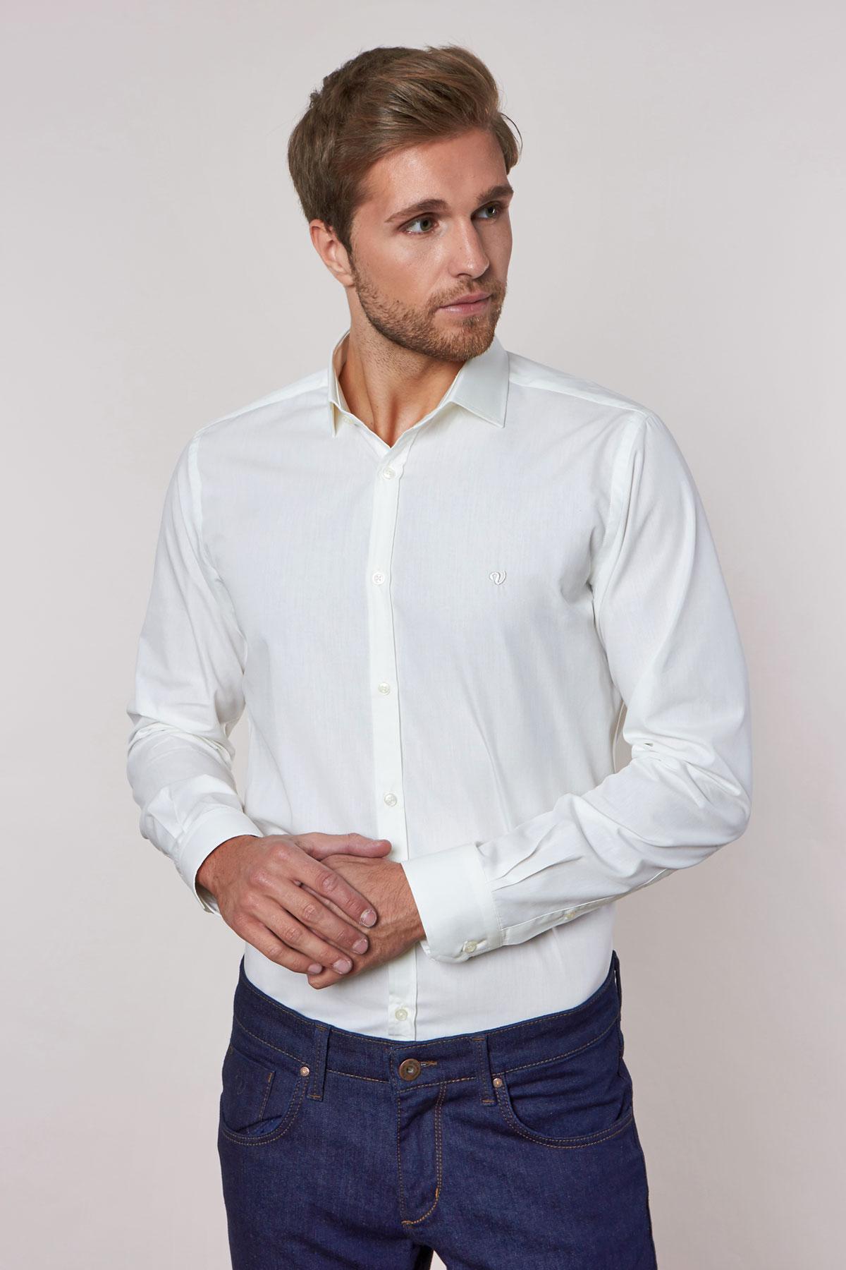 Рубашка молочного цвета 180703-02