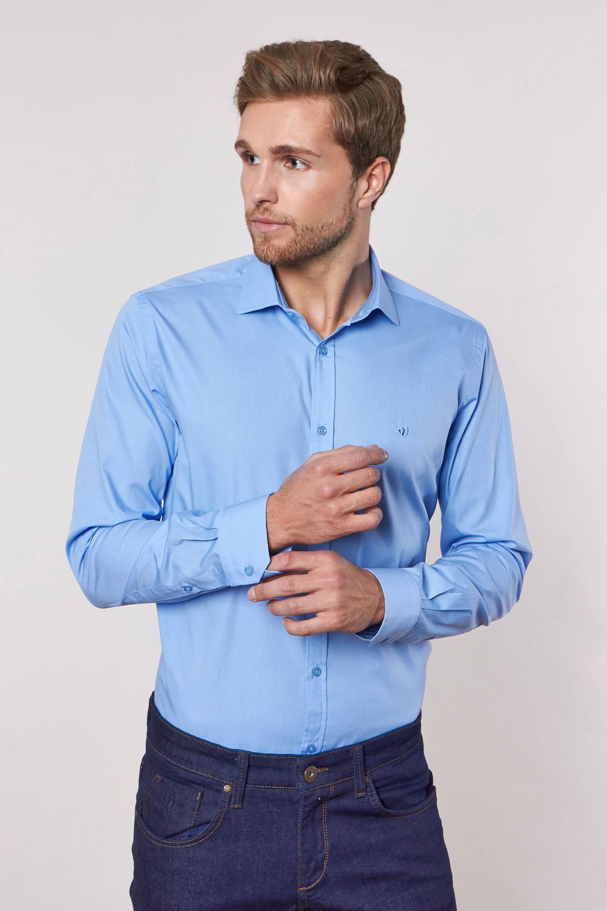 Рубашка синего цвета 180703-03