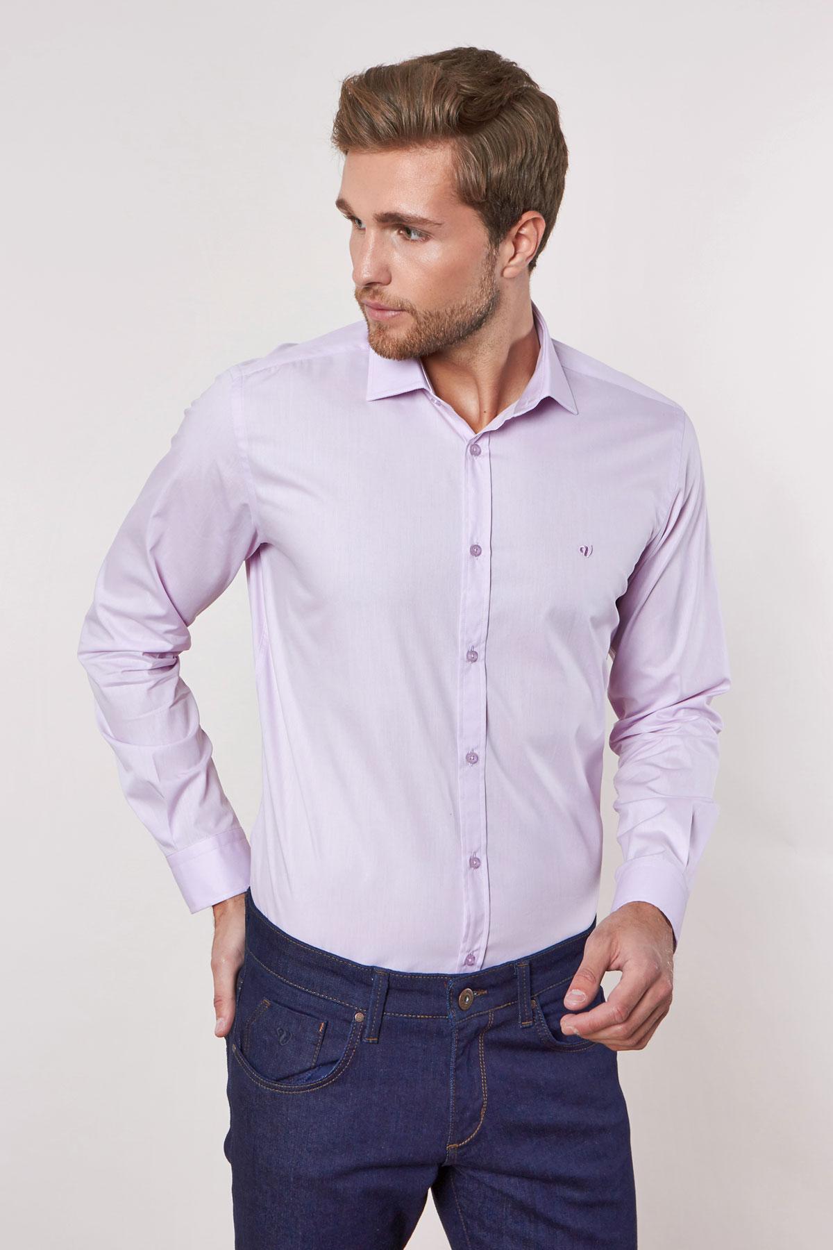 Рубашка фиолетового цвета 180703-04