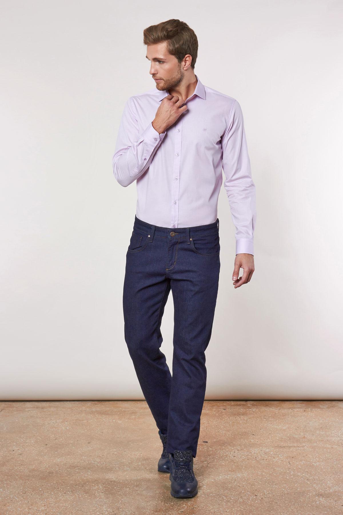 Рубашка фиолетового цвета Vaismann 180703-04