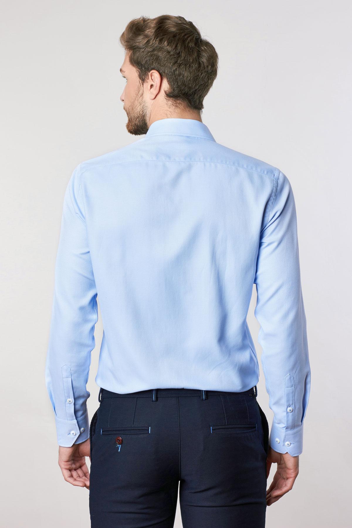 Рубашка синего цвета Vaismann 18211