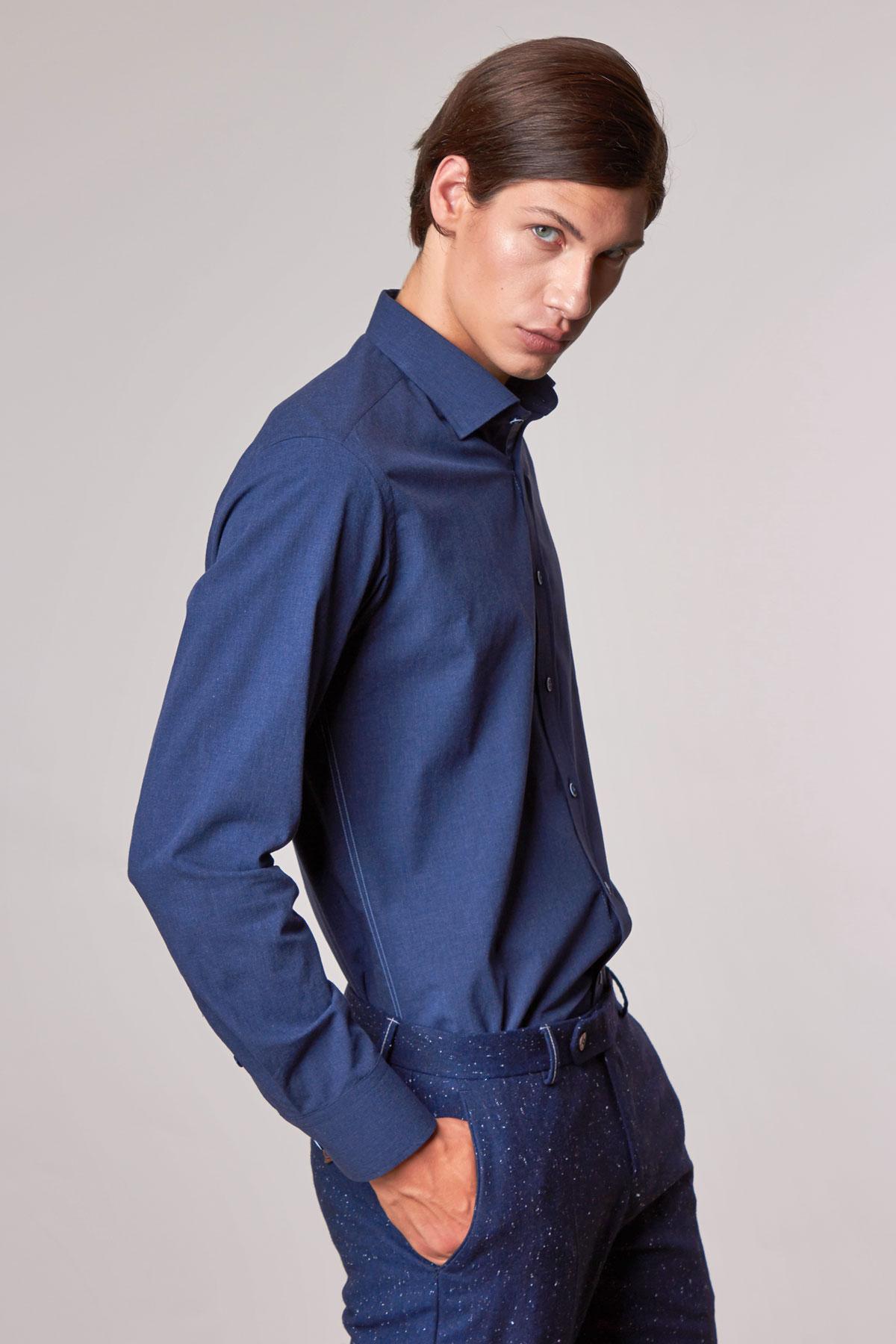 Рубашка темно-синего цвета Vaismann 18222