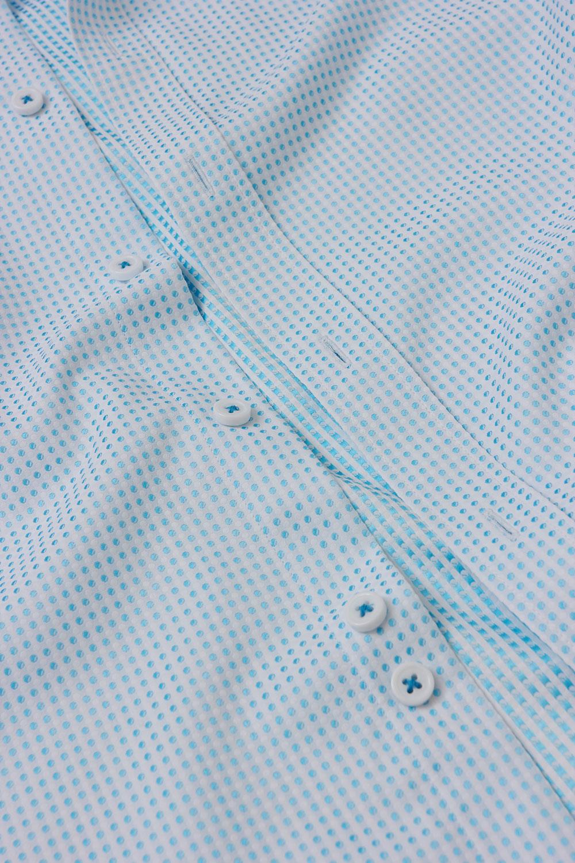 Рубашка белого цвета в узор Vaismann 18231