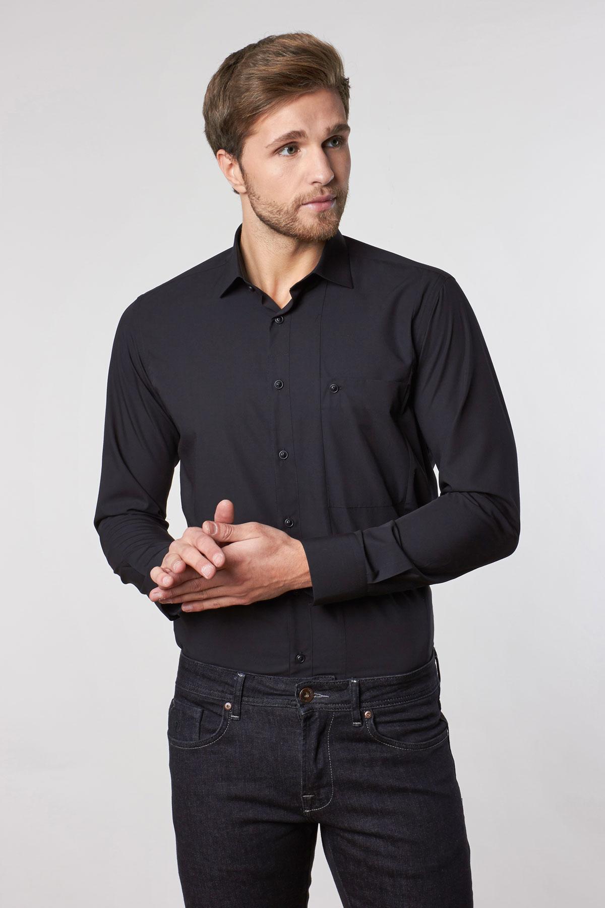 Рубашка черного цвета Vaismann 18233