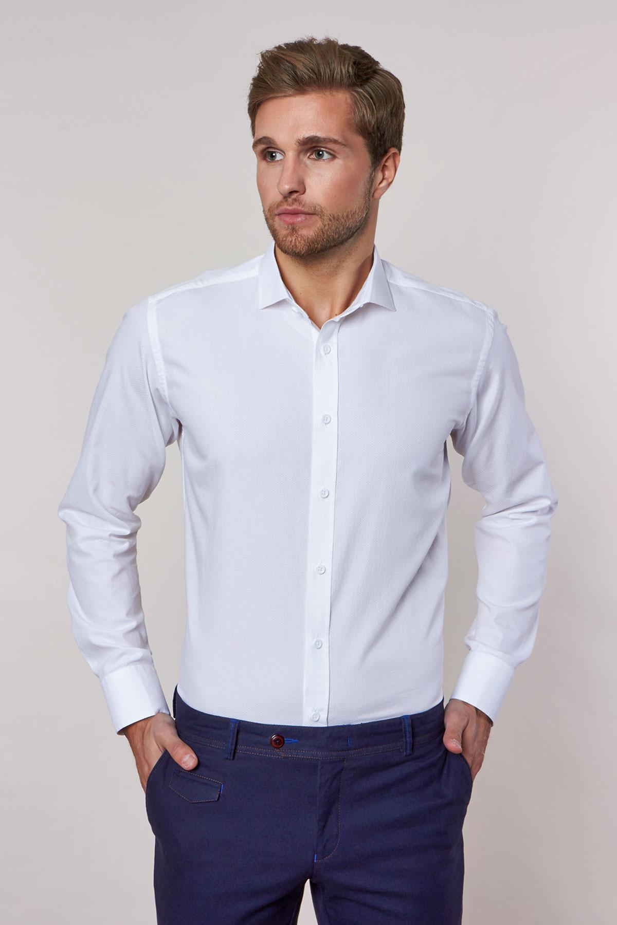 Рубашка белого цвета Vaismann 18235