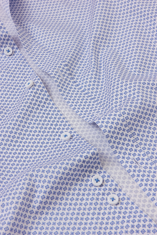 Рубашка белого цвета в узор Vaismann 18238