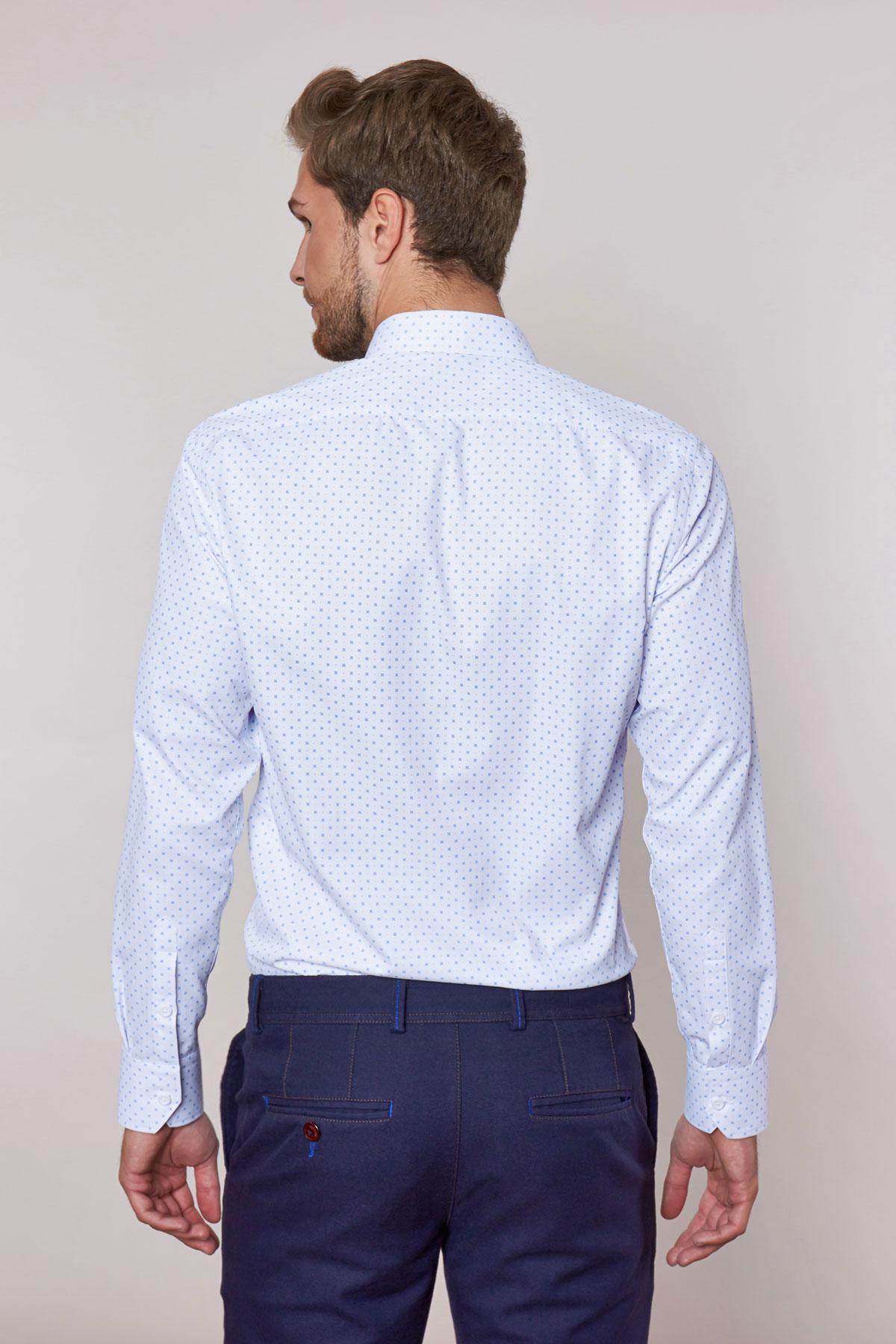 Рубашка белого цвета в узор Vaismann 18239