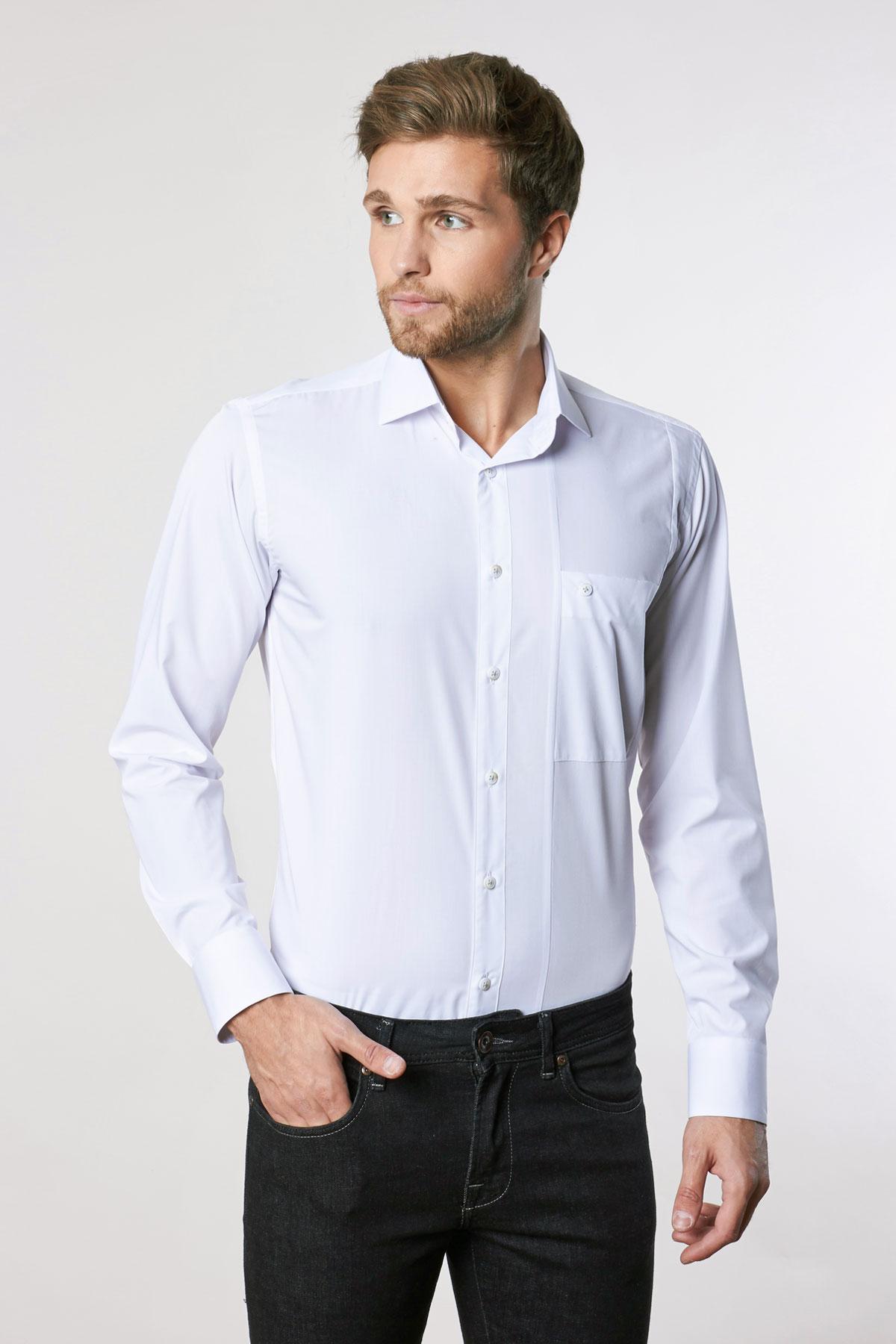 Рубашка белого цвета Vaismann 18240