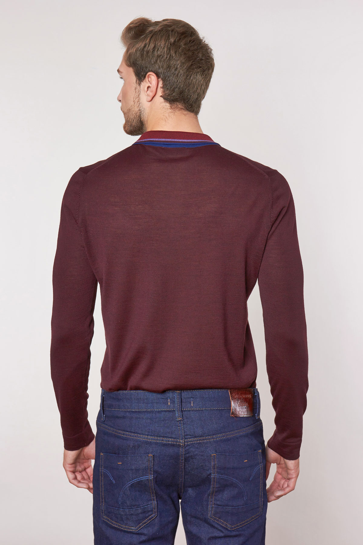 Поло бордового цвета VM-18-1860