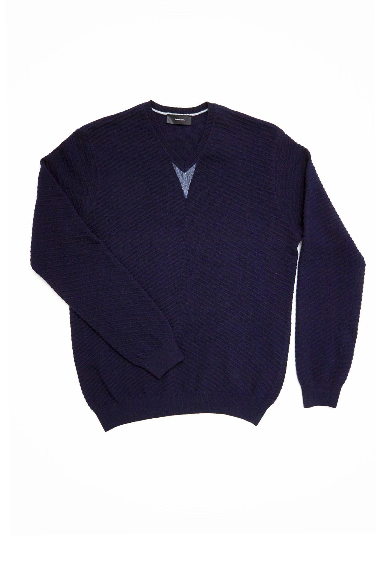 Свитер темно-синего цвета Vaismann VM-18-1823-19