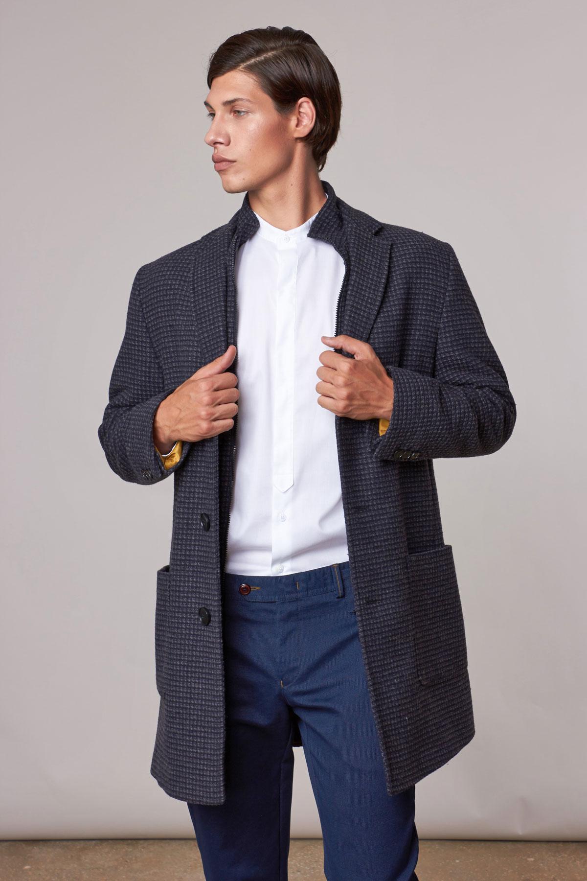 Пальто серого цвета 1810