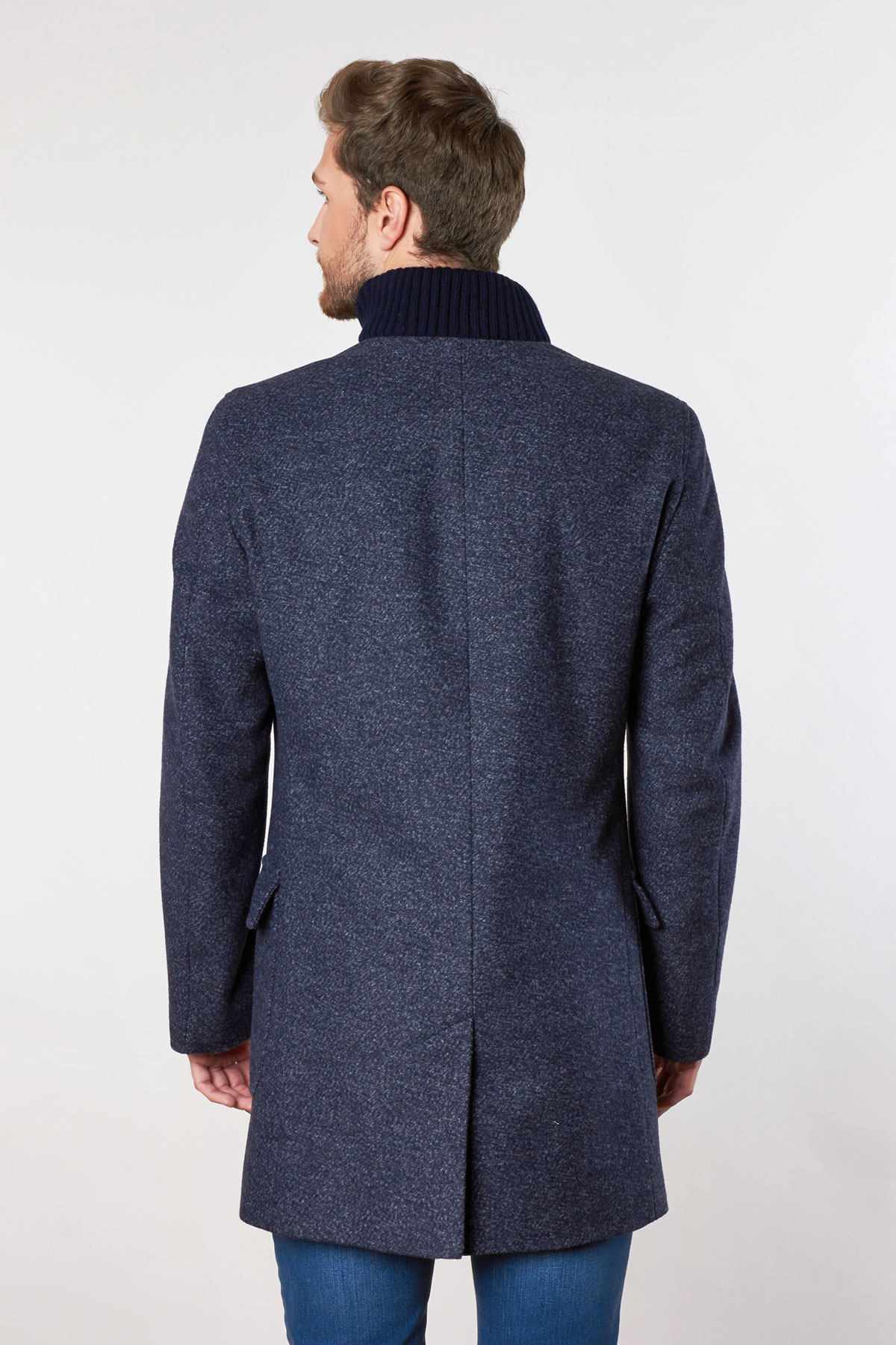 Пальто серого цвета 1812