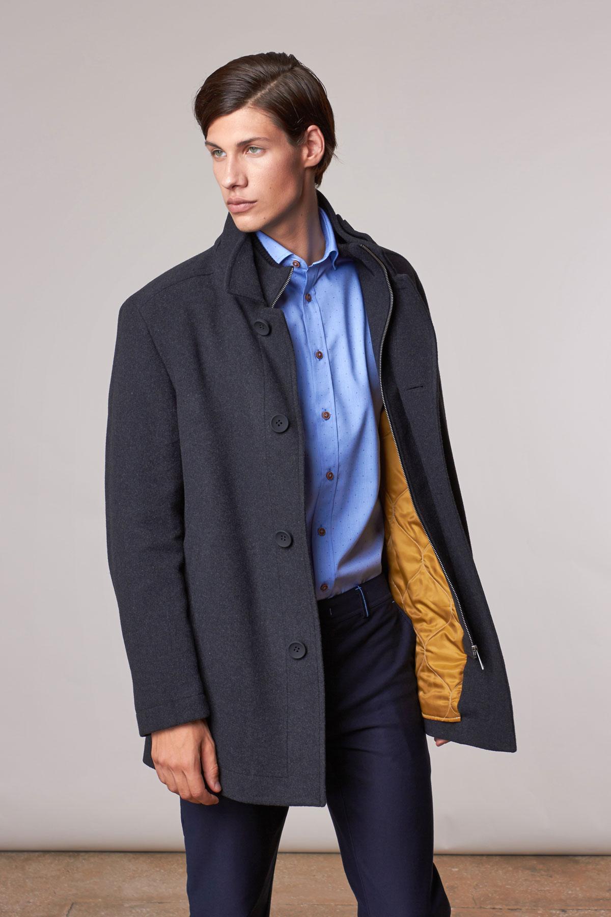 Пальто серого цвета 1814