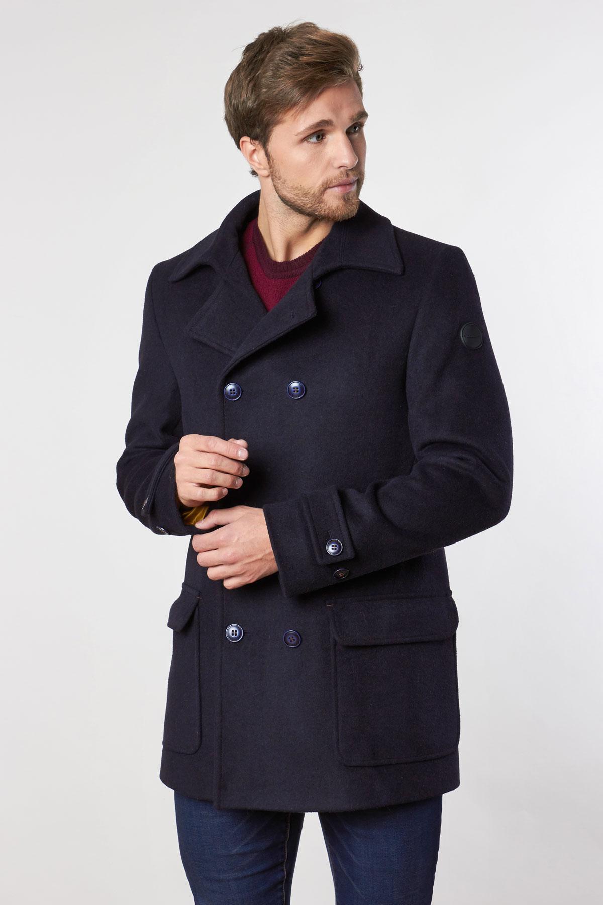 Пальто темно-синего цвета 1815