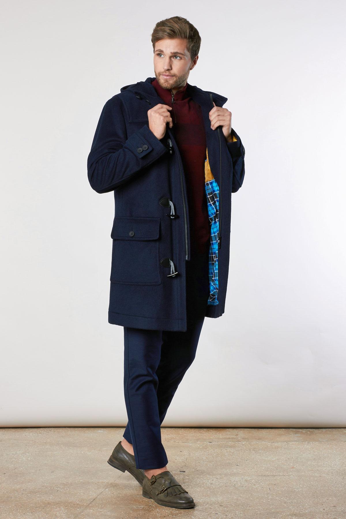Пальто темно-синего цвета 1816