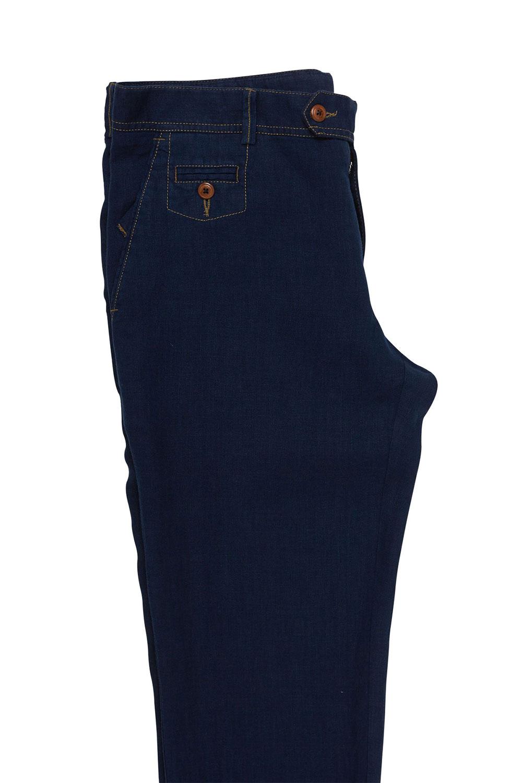 Брюки «chinos» темно-синий лен 18501