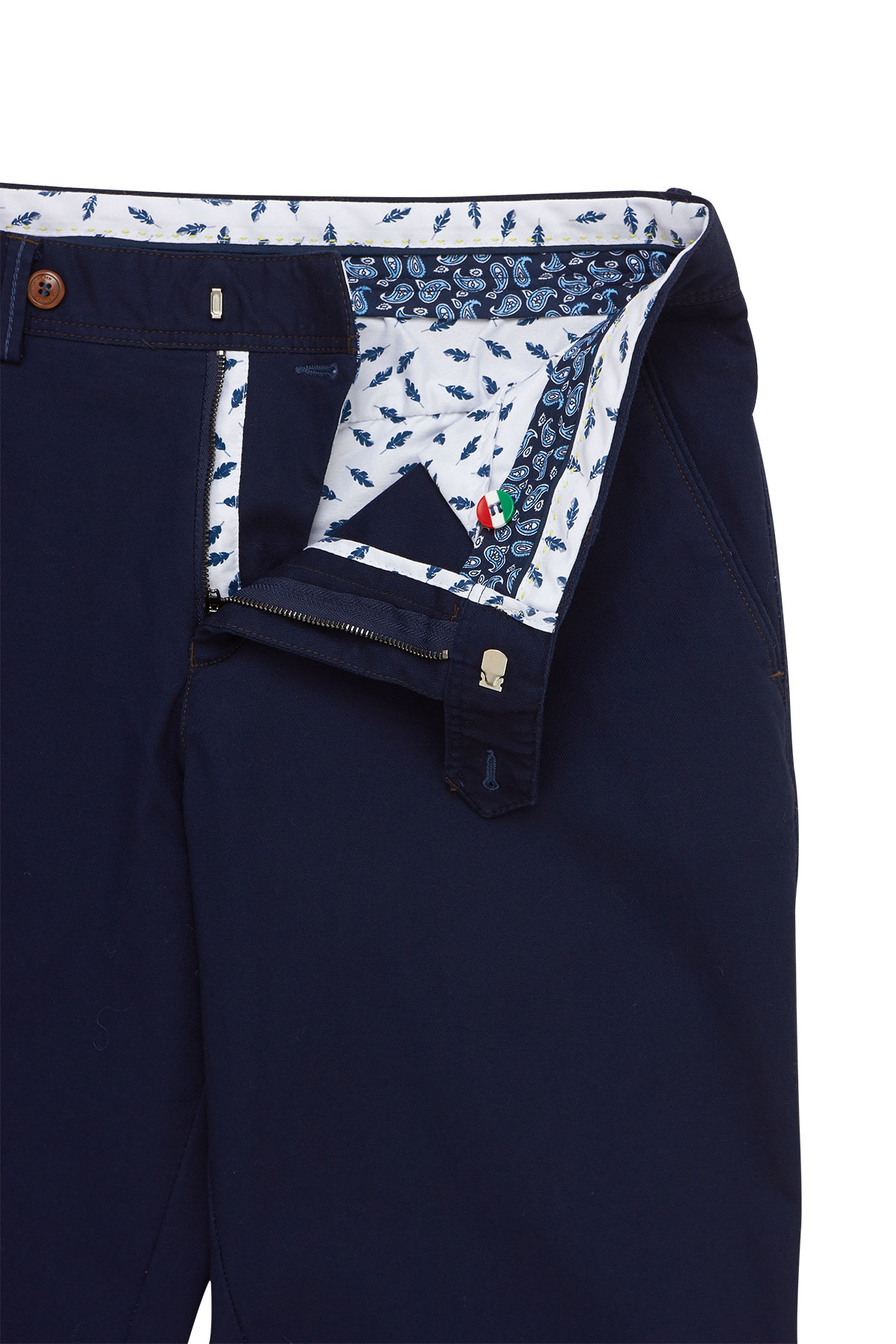 Брюки «chinos» синего  цвета 18505 JAZZ