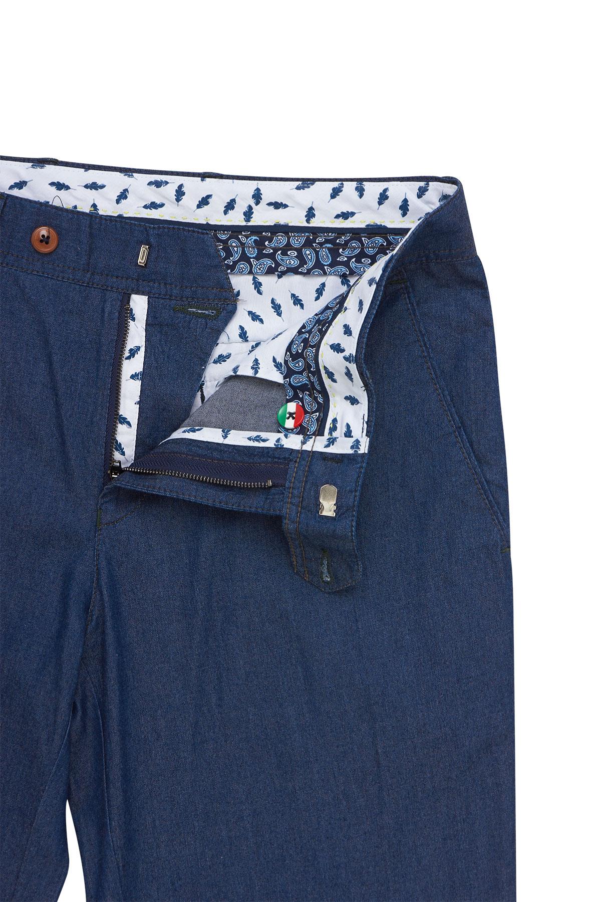 Брюки «chinos» цвета «деним» 18506 Milan-480