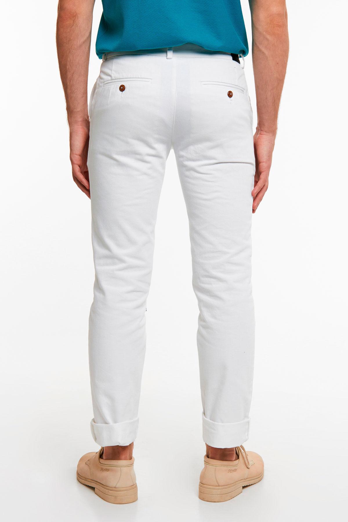 Брюки «chinos» белого цвета 18512 Milan-483