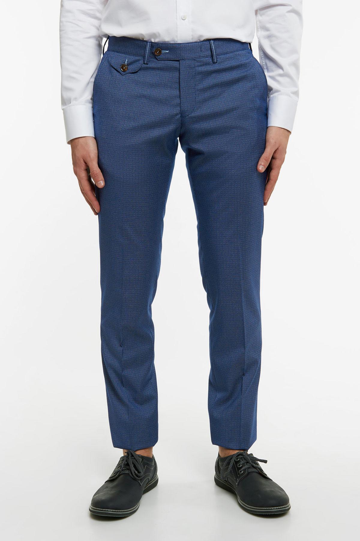 Брюки синего цвета 18528 Milan-480