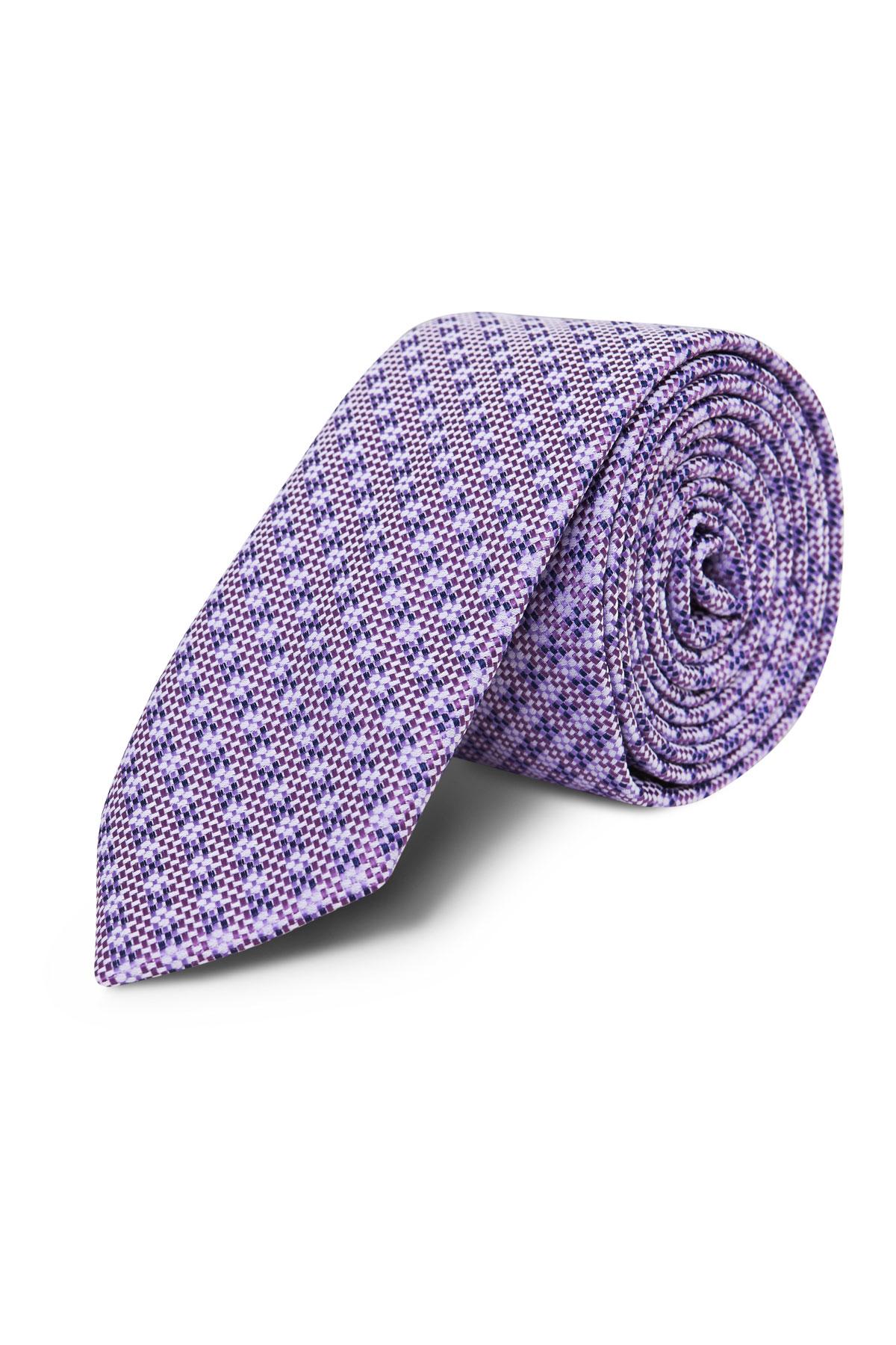 Галстук фиолетовый текстурный 18-03-46