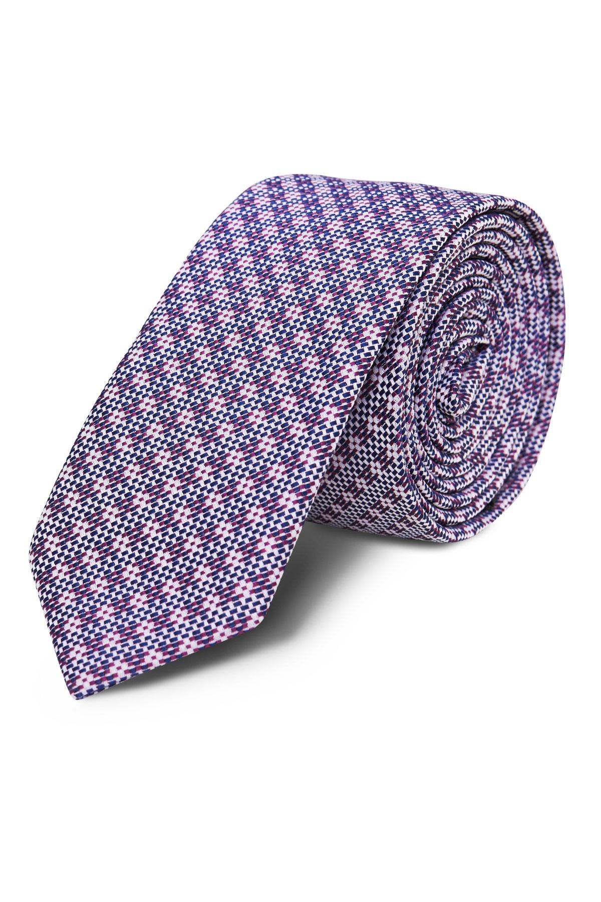 Галстук фиолетовый текстурный 18-03-49