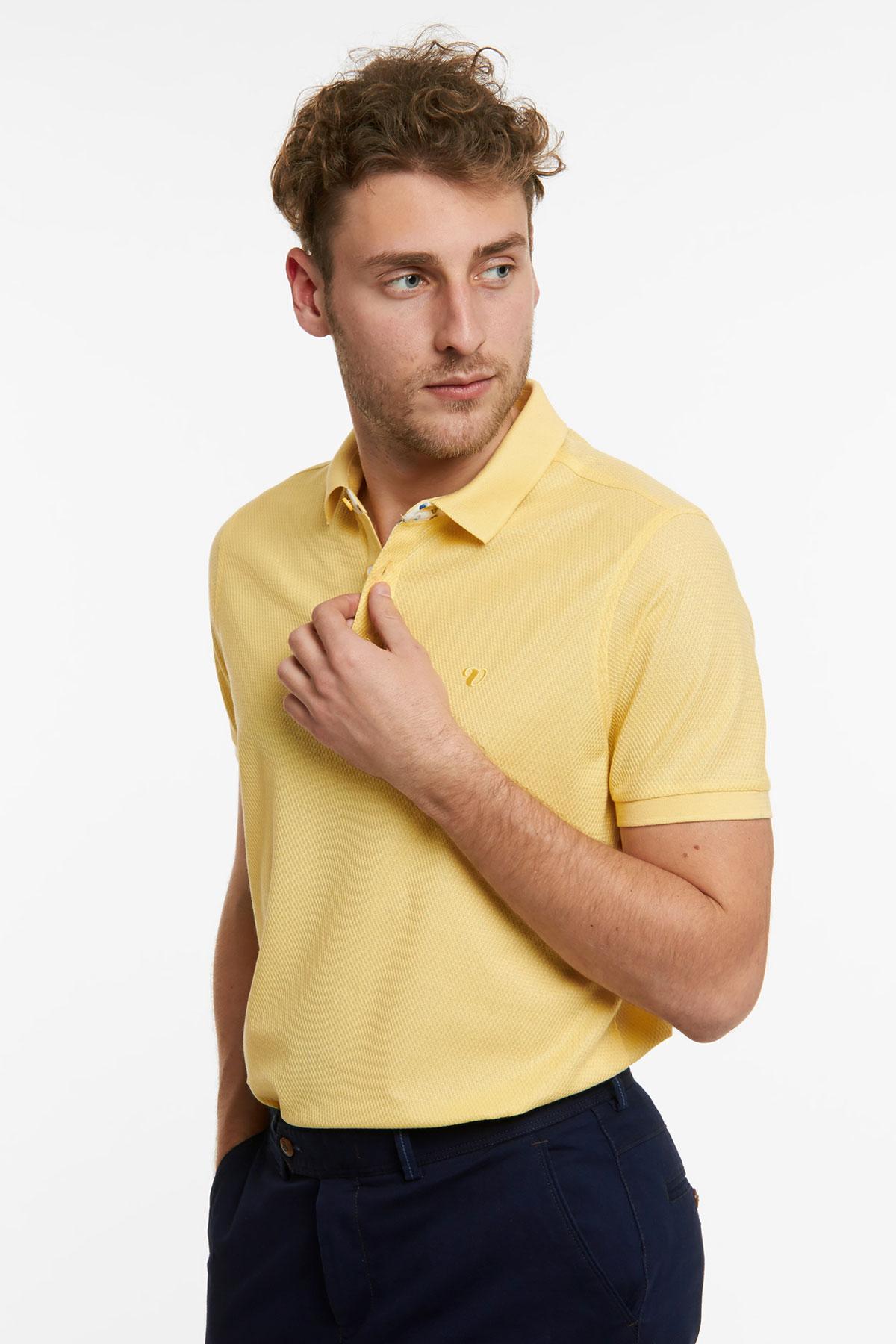 Поло желтого цвета 18-51-8
