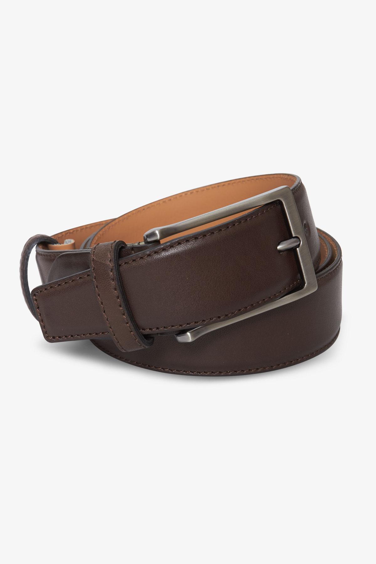 Ремень кожаный коричневого цвета 18-04-60