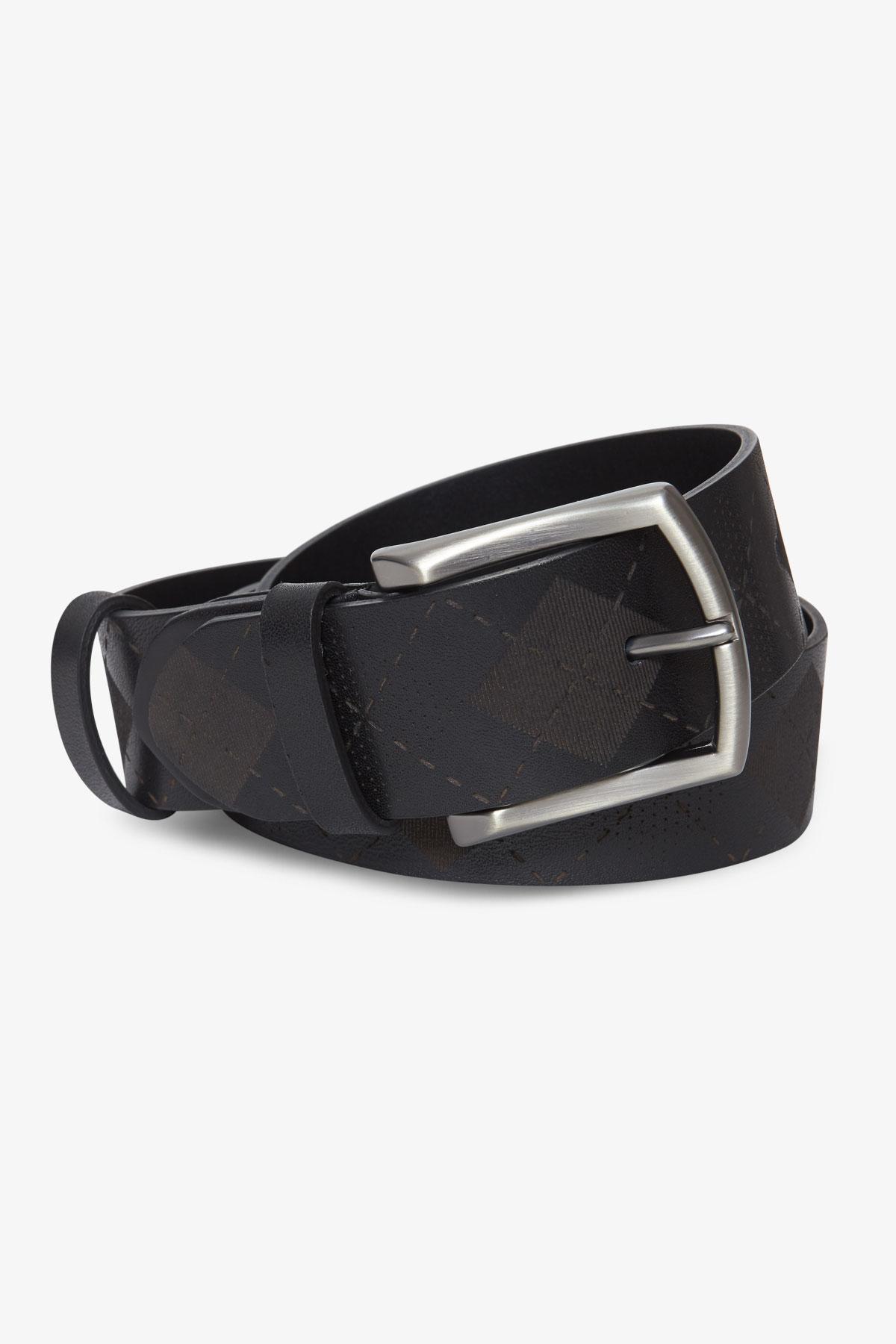 Ремень кожаный черного цвета 18-04-63