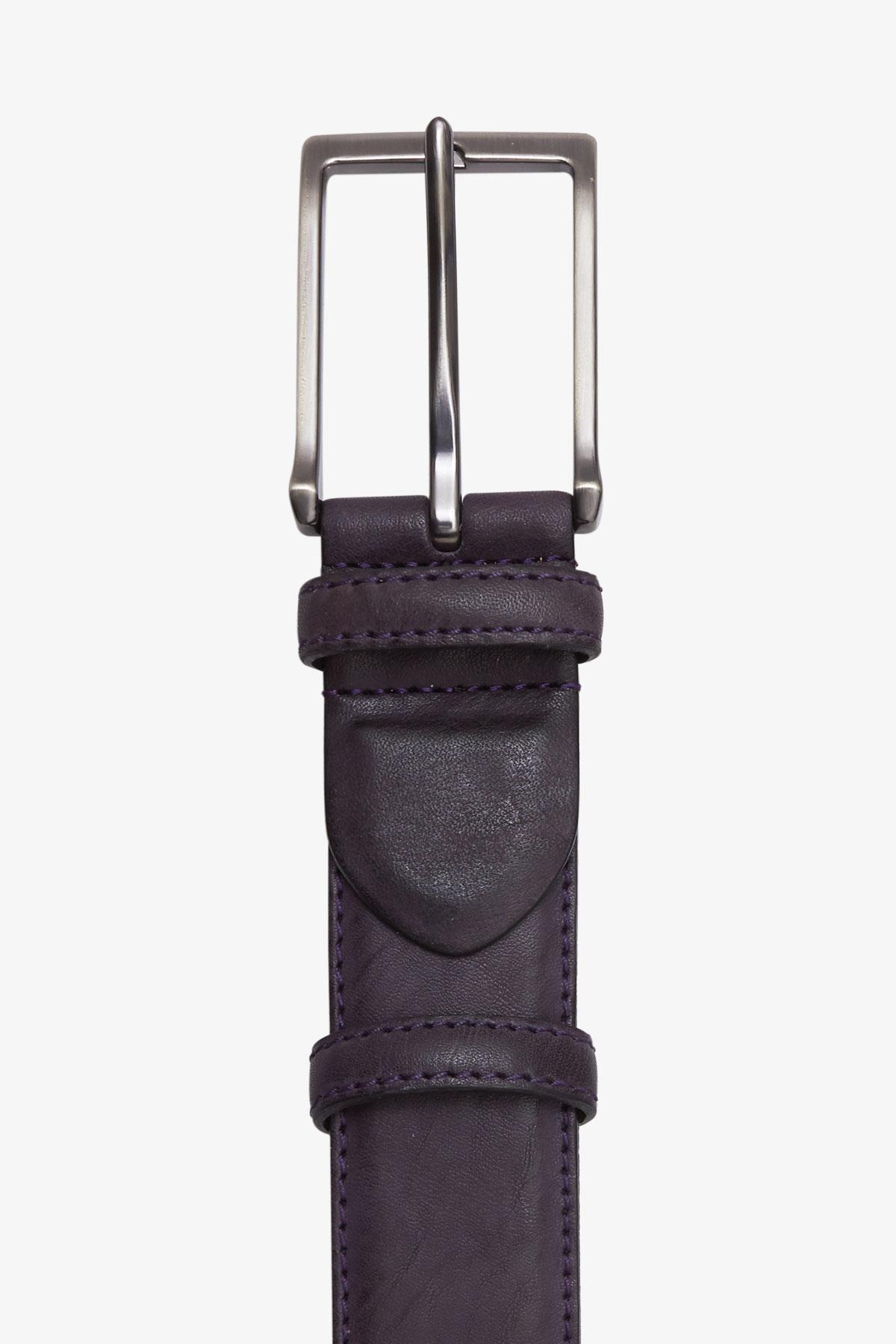Ремень кожаный фиолетового цвета 18-04-64