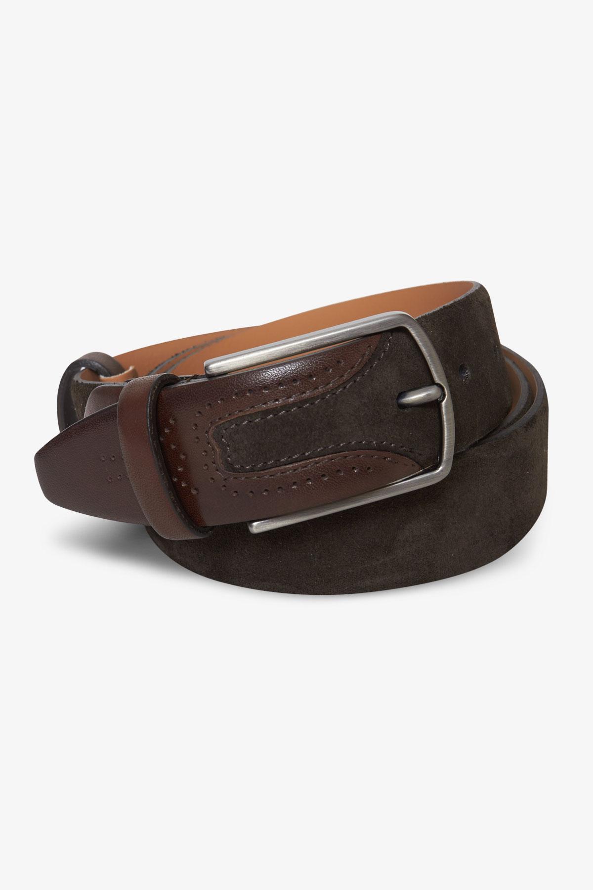 Ремень кожаный коричневого цвета 18-04-69