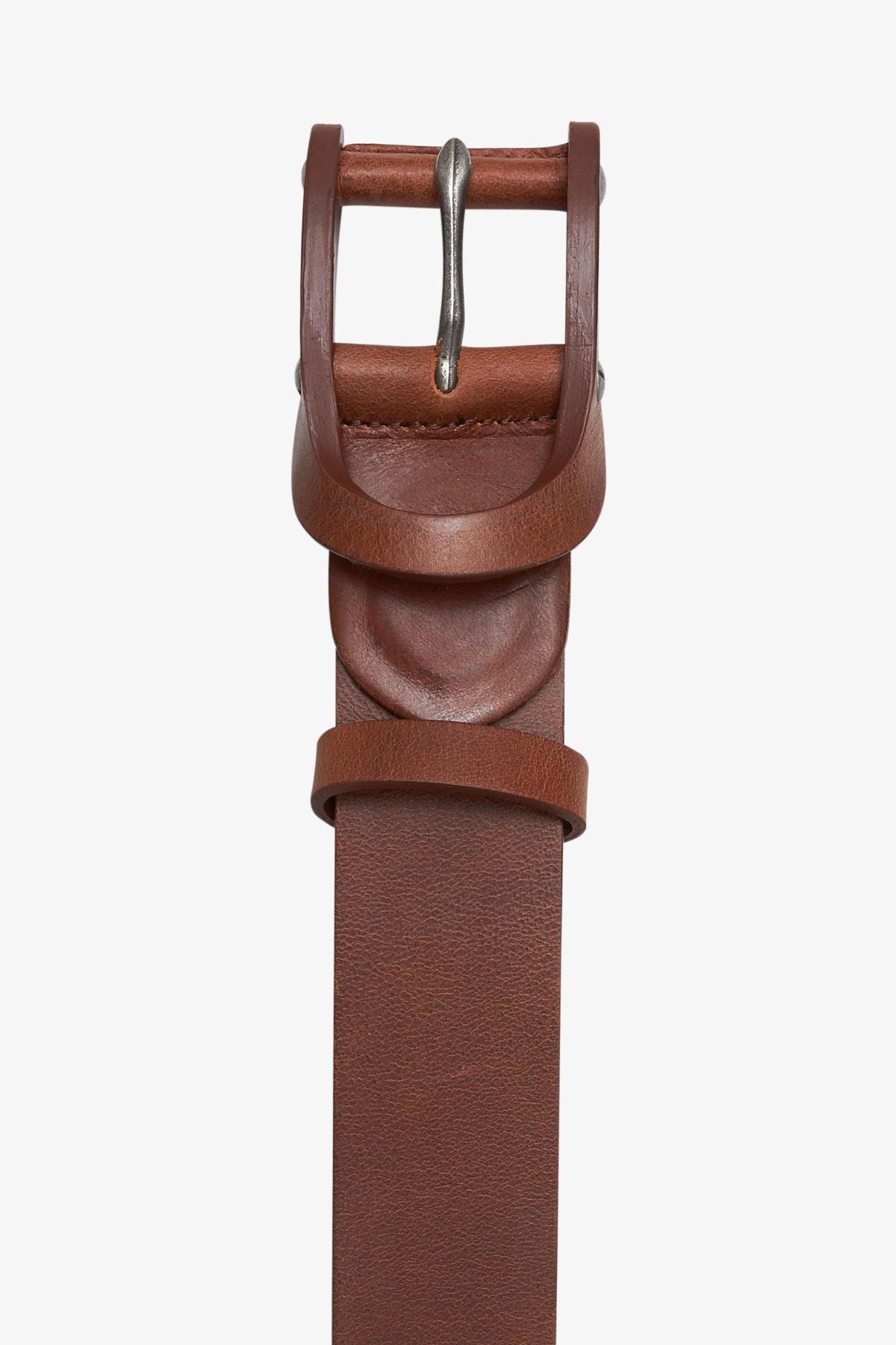 Ремень кожаный коричневого цвета 18-04-72