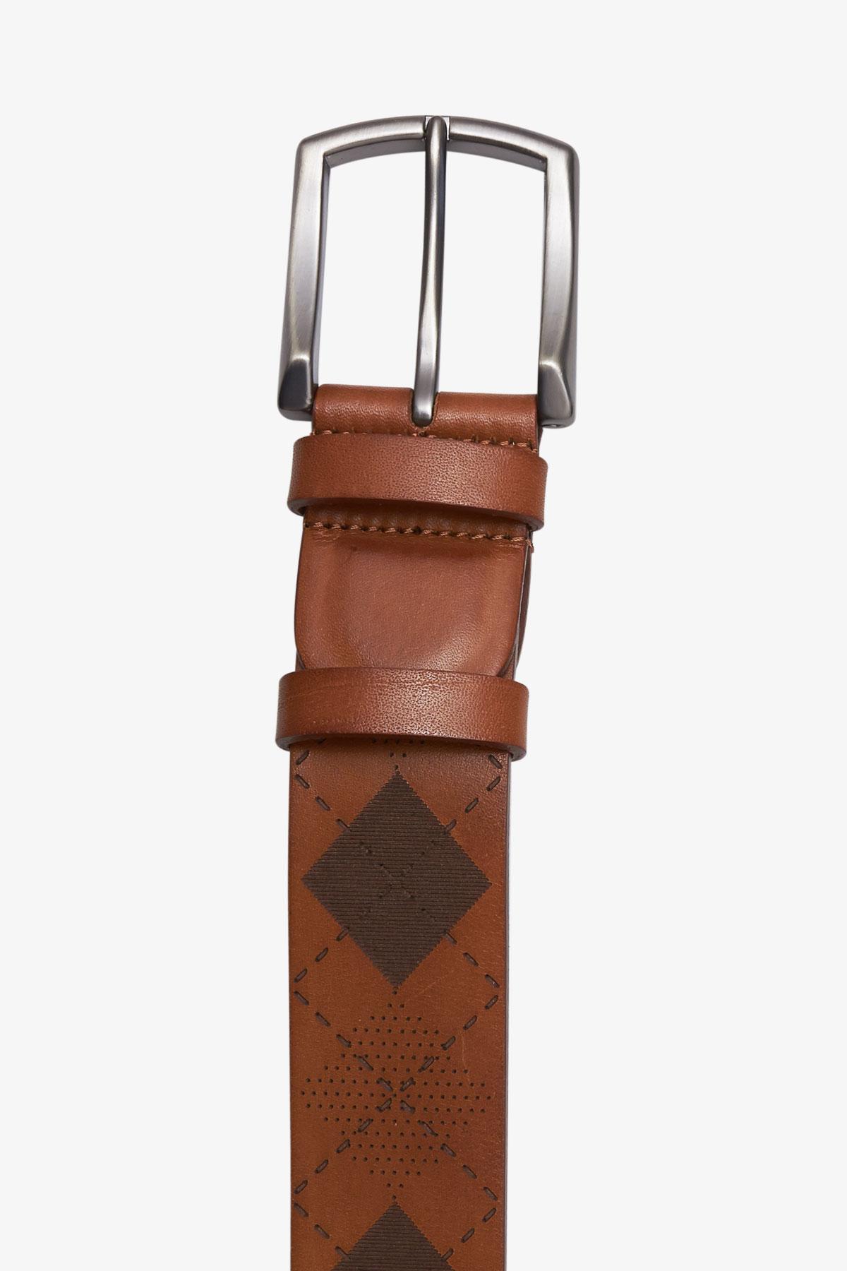 Ремень кожаный коричневого цвета 18-04-74