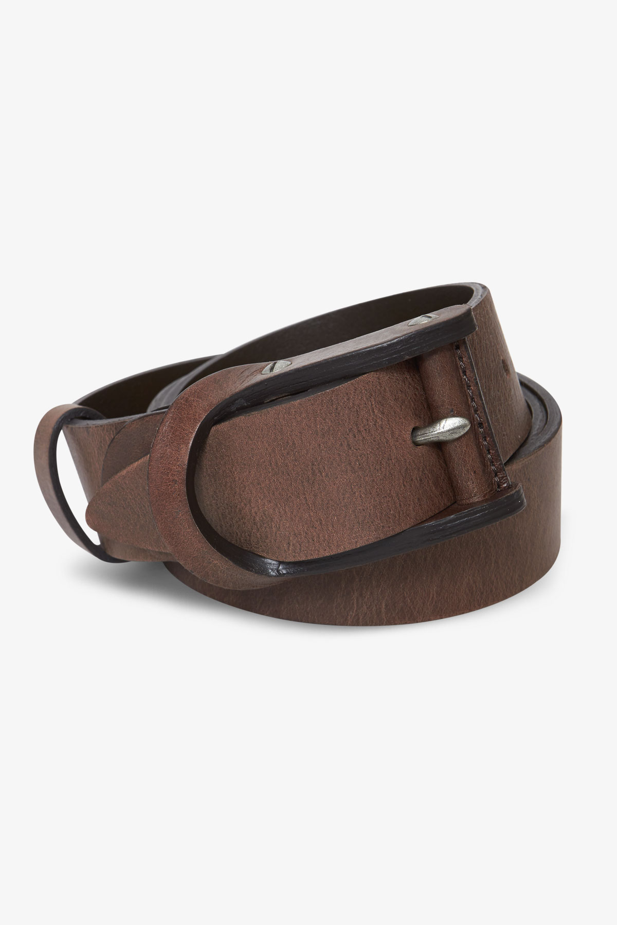 Ремень кожаный коричневого цвета 18-04-75