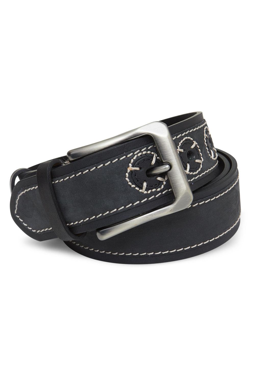 Ремень кожаный черного цвета 18-01-02J
